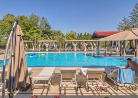 Soare, copaci si apa cristalina a piscinei, doar la Snagov Club